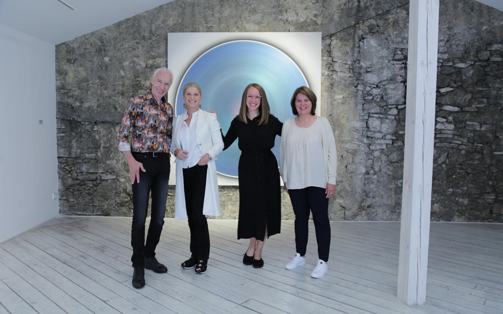 Das Team der L.art GALERIE: Herwig Loidl, Ingrid Skovhus, Lisa Koch, Judith Legat