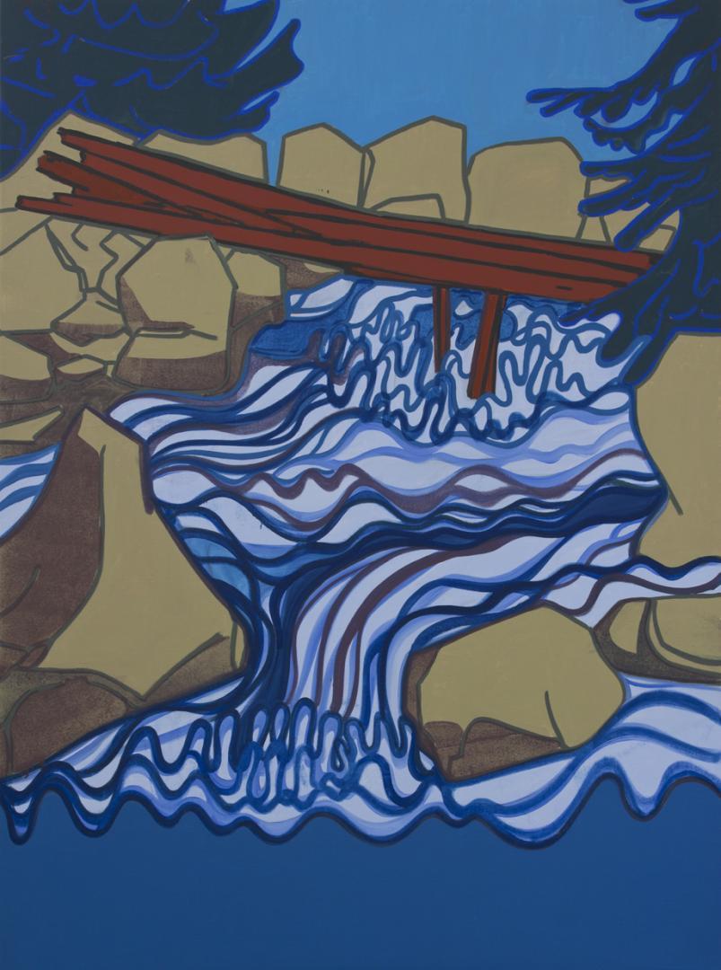 Hubert Schmalix, Broken Bridge, 175 x 130 cm
