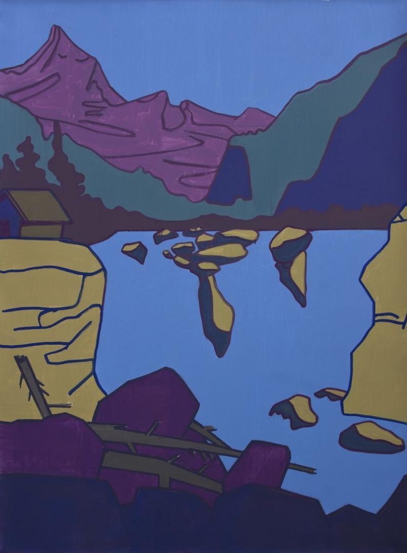 Hubert Schmalix, Landschaft, 175 x 130 cm