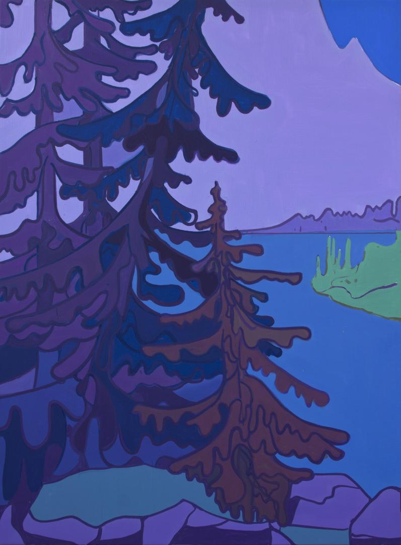 Hubert Schmalix, Trees, 175 x 130 cm