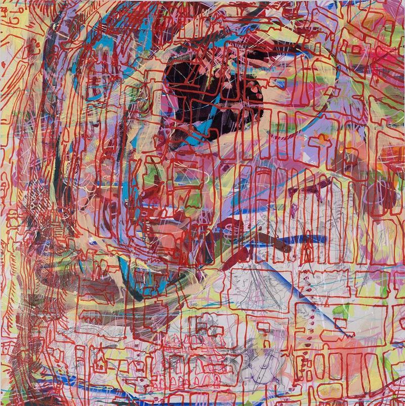 Loretta Stats, P.#16, 2014, 80 x 80 cm