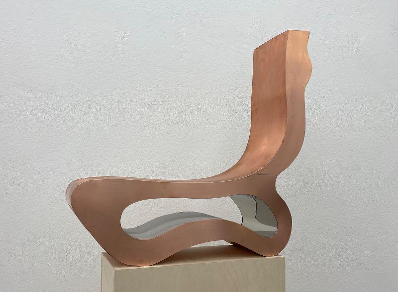 Manfred Wakolbinger, Mirror 9, 2020, Kupfer, edelstahl, 79x74x20 cm © by the artist