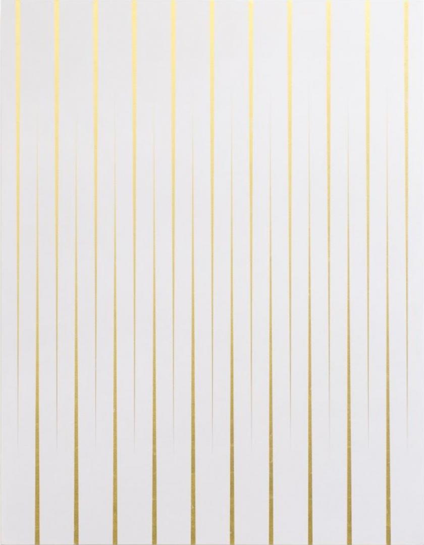 Pablo Griss, Nube (Wolke), 2018, 24 Karat Blattgold und Acryl auf Leinwand, 168 x 130 cm