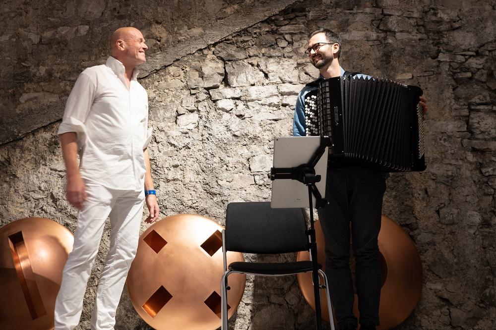 Bo Skovhus und Nikola Djoric beim Schlussapplaus