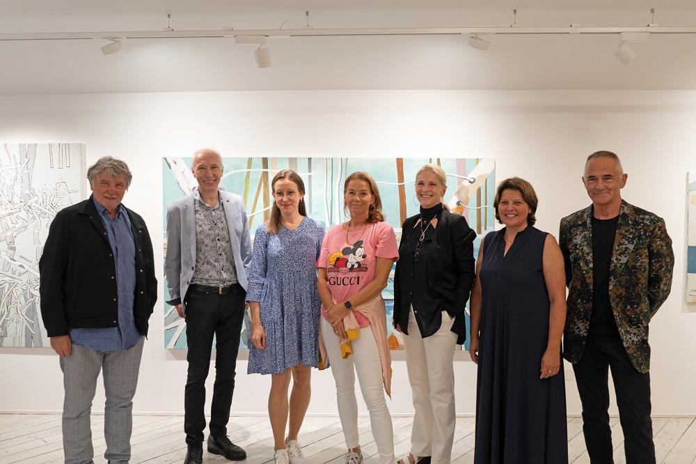 die KünstlerInnen und das Team der L art GALERIE