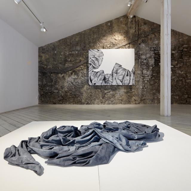 Soli Kiani, Ausstellungsansicht 2019, Galerie Weihergut, Foto: Armin Plankensteiner